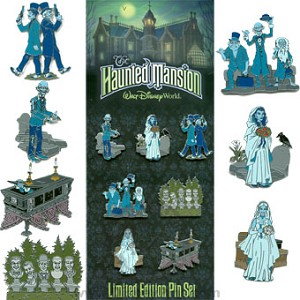 Disney Collector Pin Set - The Haunted Mansion