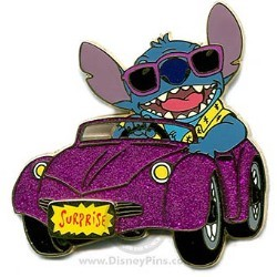 Disney Surprise Pin - Glitter Cars - Stitch