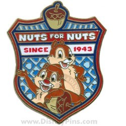 Disney Character Crest Pin - Chip and Dale