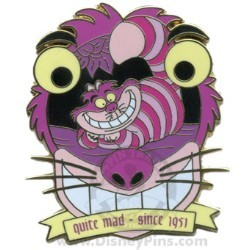 Disney Character Crest Pin - Cheshire Cat