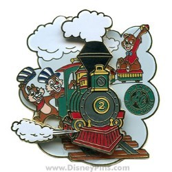 Disney Artist Choice Pin - Chip and Dale on Train