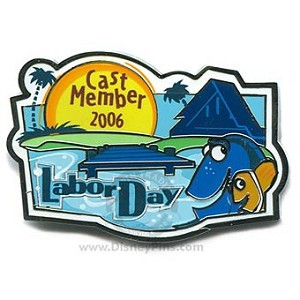 Disney Cast Member Pin - Labor Day - Dory and Marlin