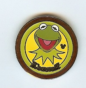 Disney Cast Lanyard Pin - Series 4 - Muppets Collection - Kermit