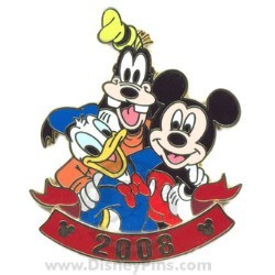 Disney Visa Pin - Mickey and Friends 2008