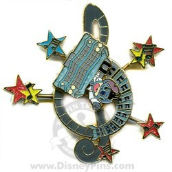 Disney Where Dreams HapPin Pin - Stitch's Rock N' Roller Coaster