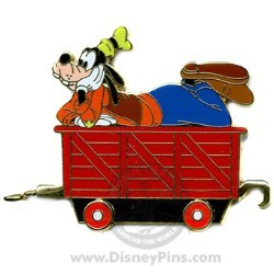 Disney Gold Card Pin - Character Train - Car Carrier