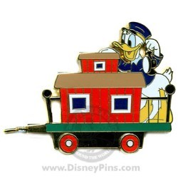 Disney Gold Card Pin - Character Train - Caboose