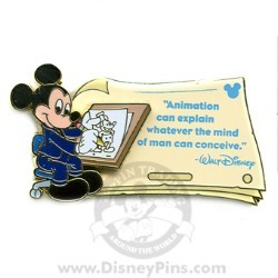 Disney Gold Card Pin - Quotes - Animation Can Explain...