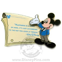 Disney Gold Card Pin - Quotes - Happiness is a State...