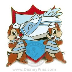 Disney Gold Card Pin - Vehicles - Chip and Dale