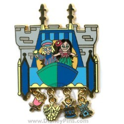 Disney Gold Card Pin - Attraction Charms - Small World