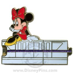 Disney Gold Card Pin - Purple Monorail - Minnie Mouse