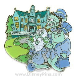 Disney Gold Card Pin - The Haunted Mansion - Hitchhiking Ghosts