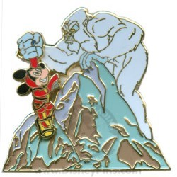 Disney Gold Card Pin - Expedition Everest - Mickey with Yeti