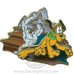 Disney Gold Card Pin - Expedition Everest - Pluto with Yeti
