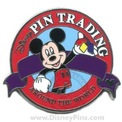 Disney Hidden Mickey Completer Pin - Dark Orange Pin Trading Logo