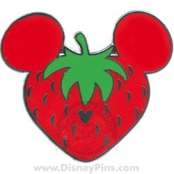 Disney Hidden Mickey Completer Pin - Strawberry