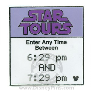 Disney Hidden Mickey Pin - Fastpass - Star Tours