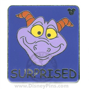 Disney Hidden Mickey Pin - Figment - Surprised