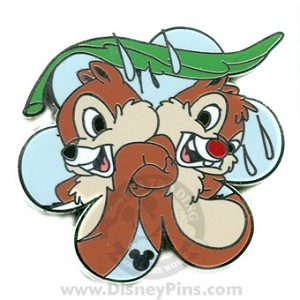 Disney Hidden Mickey Pin - Chip and Dale - Spring