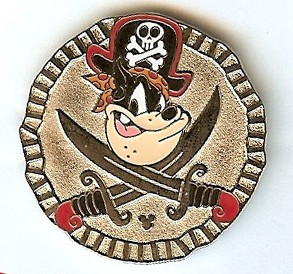 Disney Hidden Mickey Pin - Pirate Pete