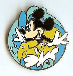 Disney Hidden Mickey Pin - Tubing Mickey