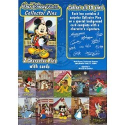 Disney Mystery Pin & Card - Signature - Complete Set