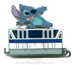Disney Mystery Tin Pin - Walt Disney World Monorail - Stitch
