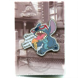 Disney Mystery Pin & Card - Dreams Slogans - Stitch
