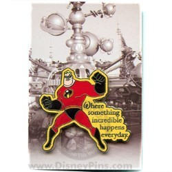 Disney Mystery Pin & Card - Dreams Slogans - Mr Incredible