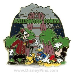 Disney Mystery Pin & Card - Disney World - Tower of Terror