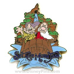Disney Mystery Pin & Card - Disney World - Splash Mountain