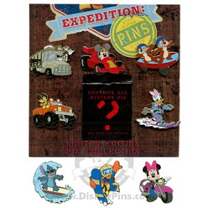 Disney Mystery Pin Collection - Expedition: PINS - 8 Pin Set COMPLETE