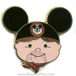 Disney Mystery Tin Pin - it's a small world Kids - Boy - Black Ears