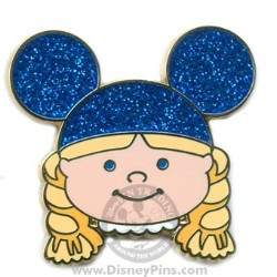 Disney Mystery Tin Pin - it's a small world Kids - Girl - Blue Ears