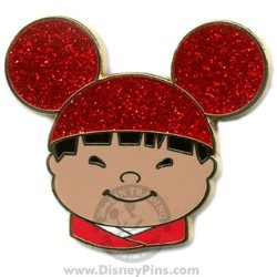 Disney Mystery Tin Pin - it's a small world Kids - Boy - Red Ears