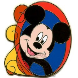 Disney Mystery Pin - Swirls - Mickey Mouse