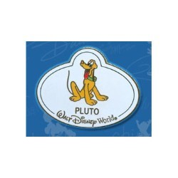 Disney Mystery Tin Pin - Nametags - Pluto Name Tag