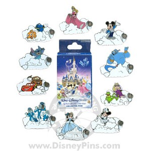 Disney Mystery Pin & Card Collection - Dreams Clouds - 2 Random