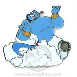 Disney Mystery Pin & Card - Dreams Clouds - The Genie