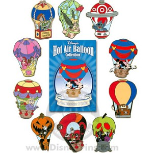Disney Mystery Pin Collection - Hot Air Balloon - Complete - 10 Pins