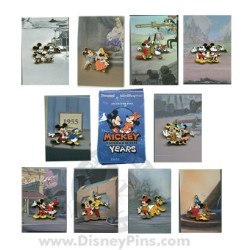 Disney Mystery Pin & Card - Mickey Through the Years - Complete Set