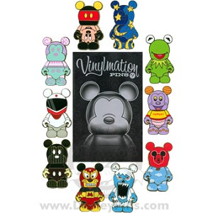 Disney Mystery Pin Collection - vinylmation - 10 Pin Set COMPLETE
