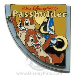 Disney Passholder Puzzle Pin - 2008 - Hollywood Studios Chip & Dale