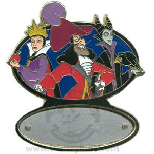 Disney Personalized Pin - Captain Hook, Evil Queen, Maleficent