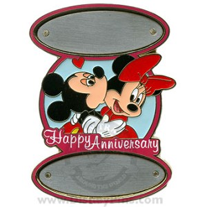 Disney Personalized Pin - Happy Anniversary Mickey and Minnie