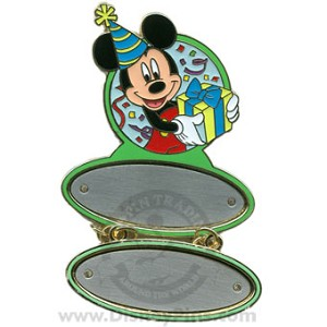 Disney Personalized Pin - Mickey Holding Present