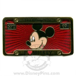 Disney Spotlight Pin - License Plate - Mickey Mouse