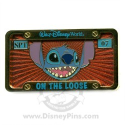Disney Spotlight Pin - License Plate - Stitch