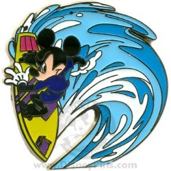 Disney Spotlight Pin - Surfing the Waves - Mickey Mouse